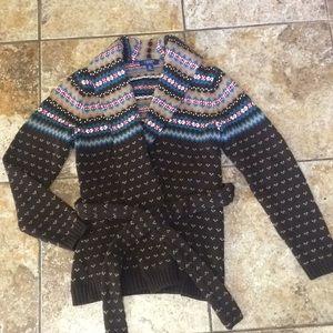 Chaps Ralph Lauren Cardigan Wrap Sweater Small